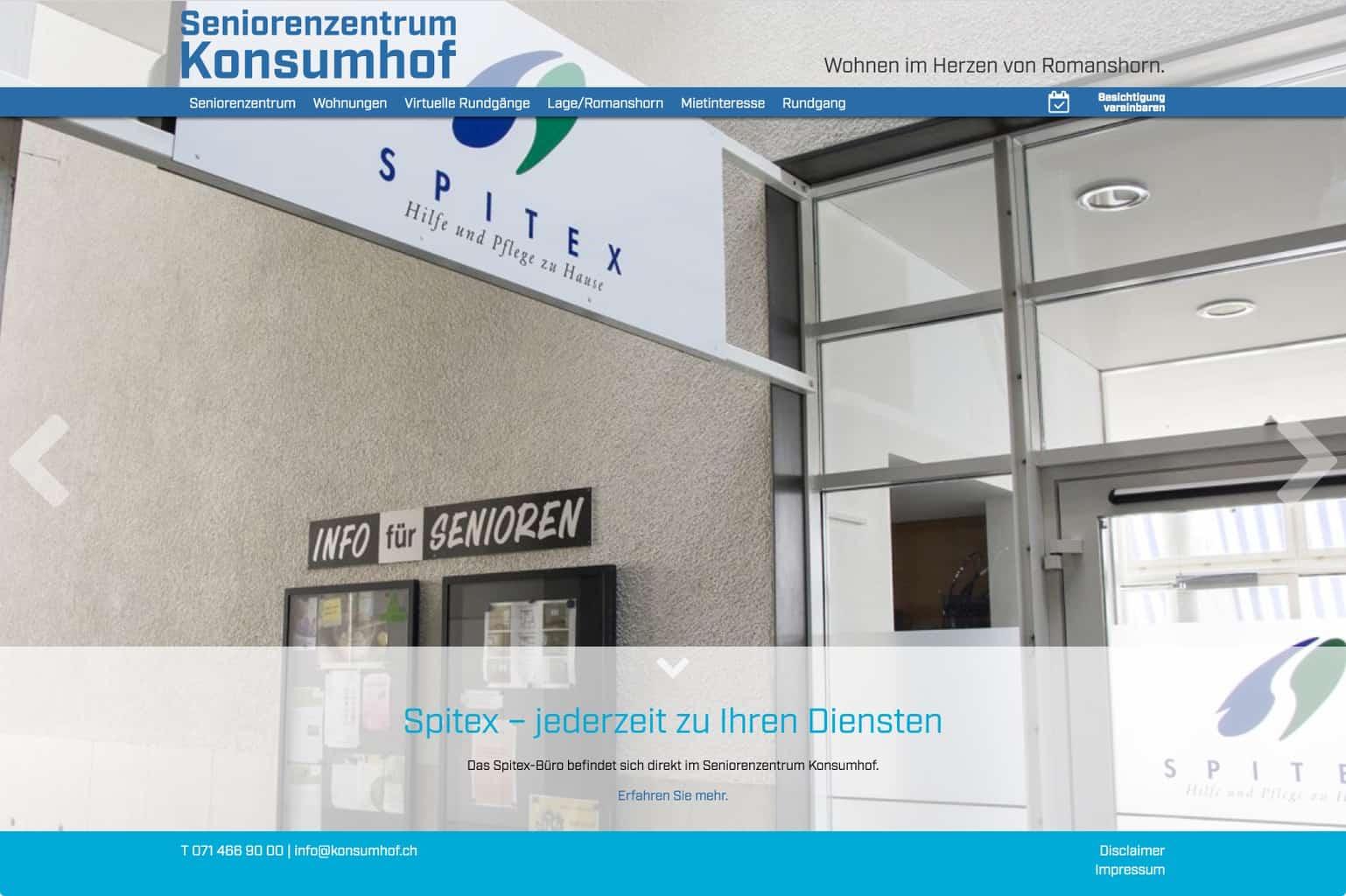 Spitex im Seniorenzentrum Konsumhof