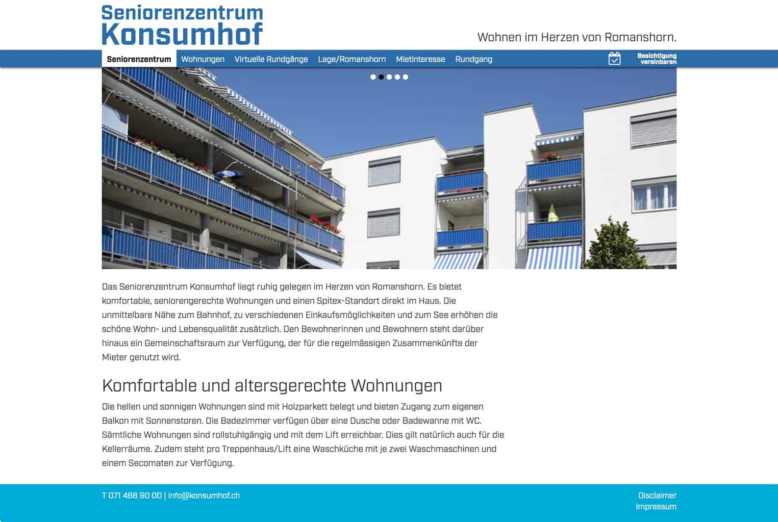 Website Konsumhof