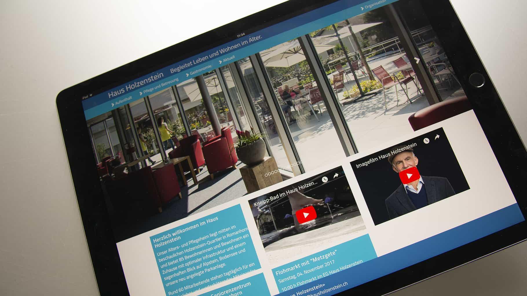 Die Website hausholzenstein.ch